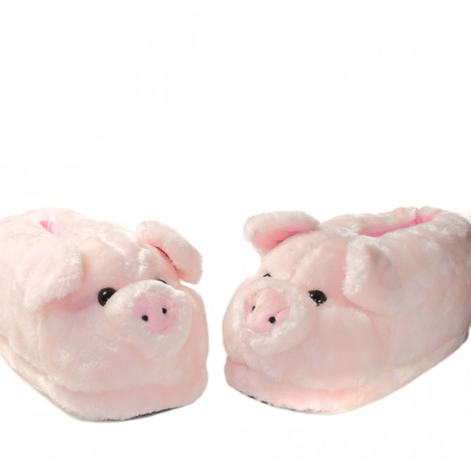 chaussons animaux cochon pour femme