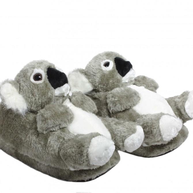 97629191d5624 Chaussons animaux peluche Koala original et rigolo - homme et femme ...