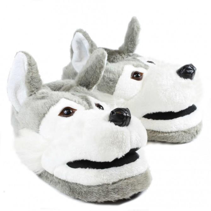 chaussons animaux en forme de loup