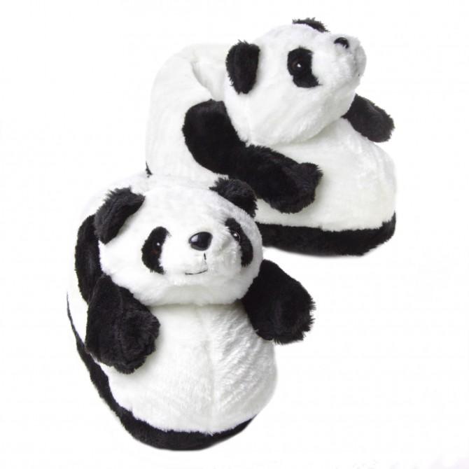 dddfe7b3738bb Chaussons animaux peluche Panda original et rigolo - homme et femme ...