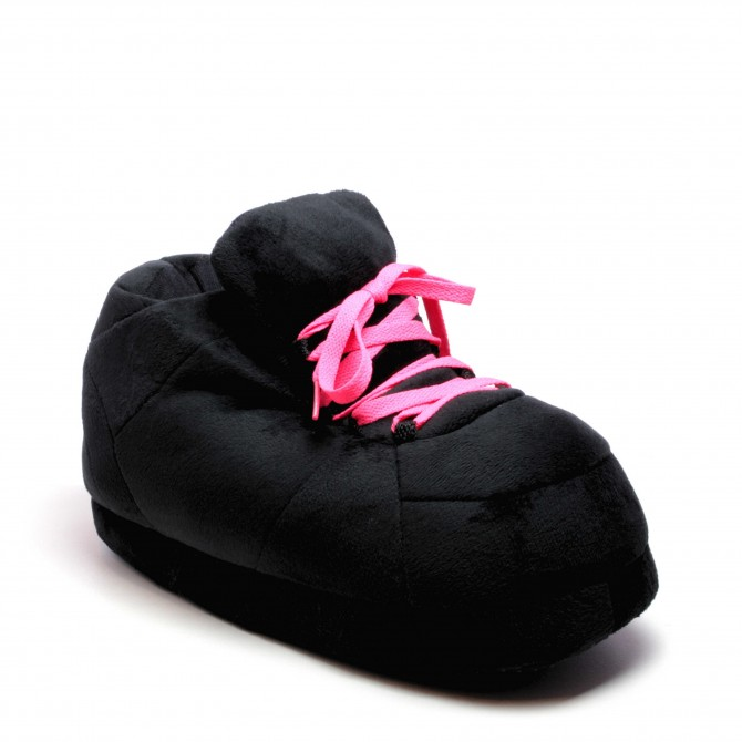 All Black Lacets Rose