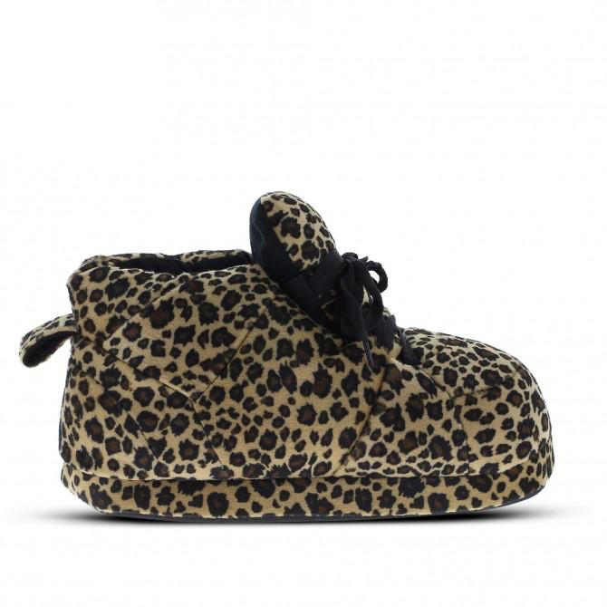 Chaussons originaux rigolos léopard pour homme femme et enfant ... 79878f66dc4a