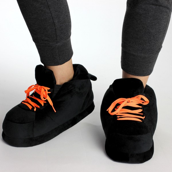 All Black Lacets Orange